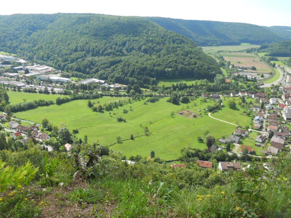 Günzelburg Blick ins Achtal