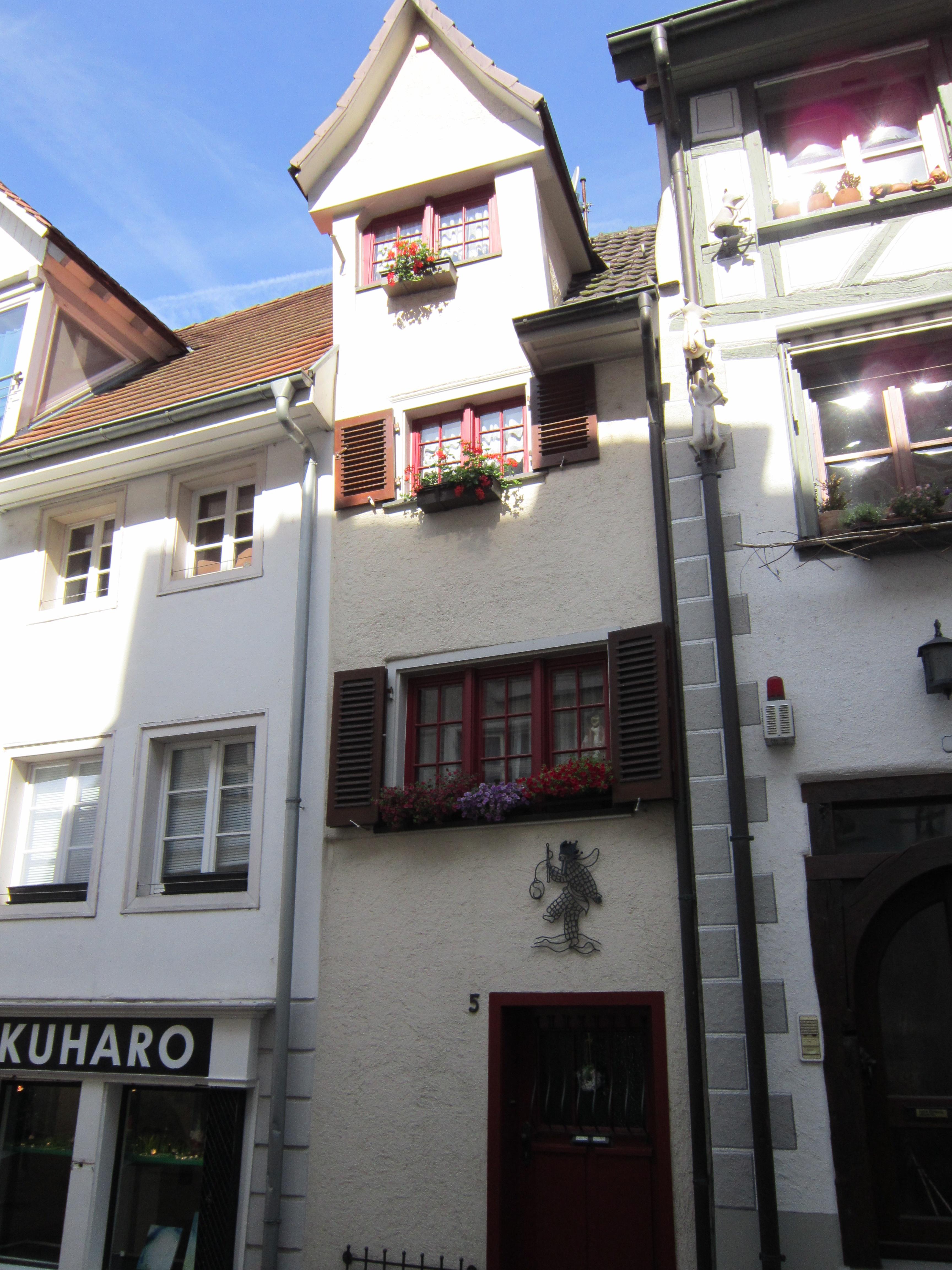 Schmalstes Haus von Radolfzell in der Schmidtengasse