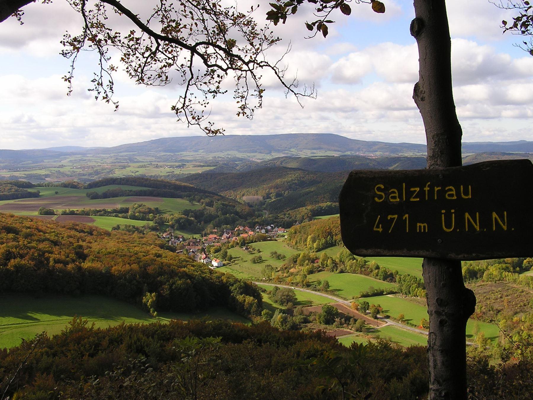 Hessische Schweiz Ausblick von der Salzfrau