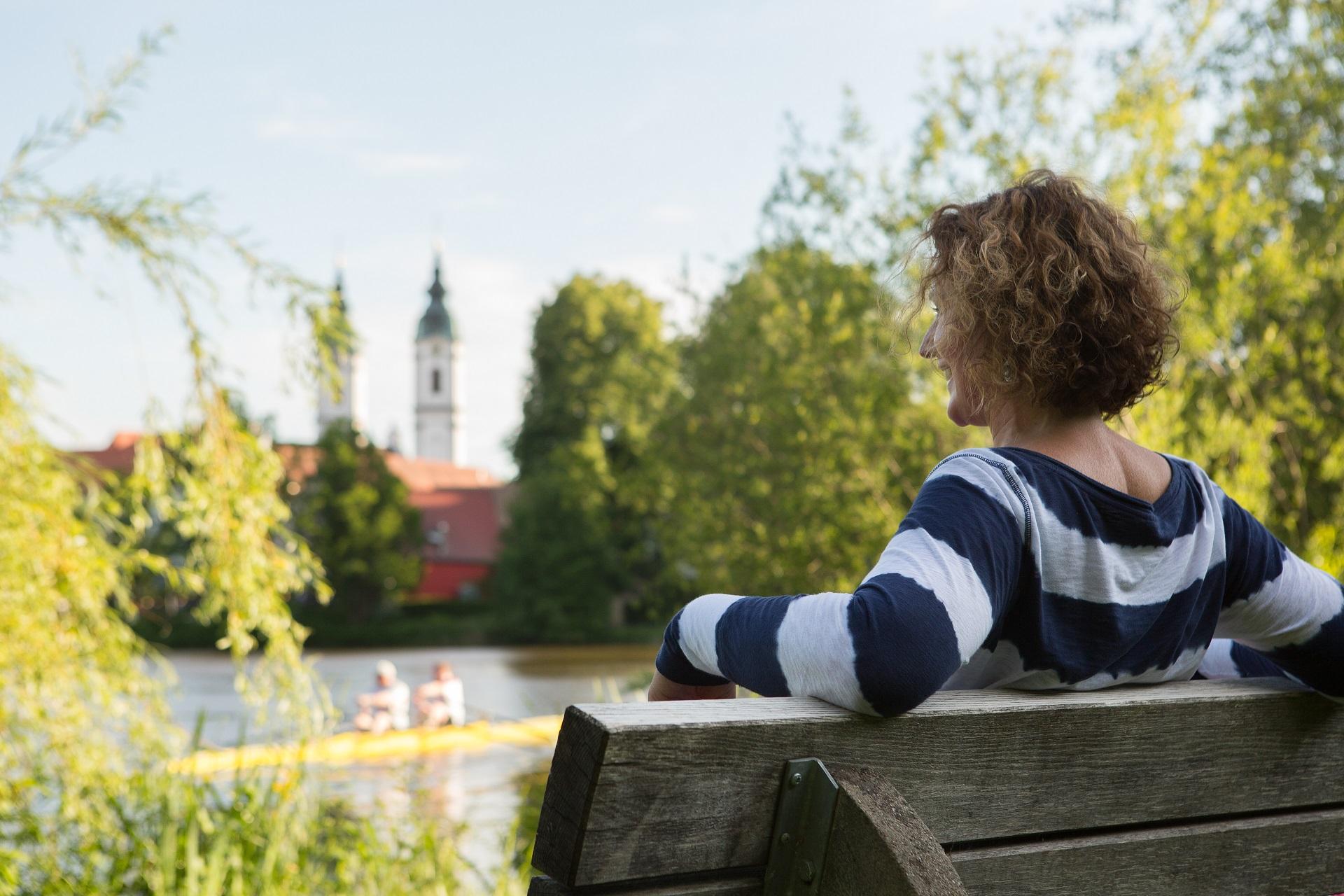 Pause am Stadtsee in Bad Waldsee