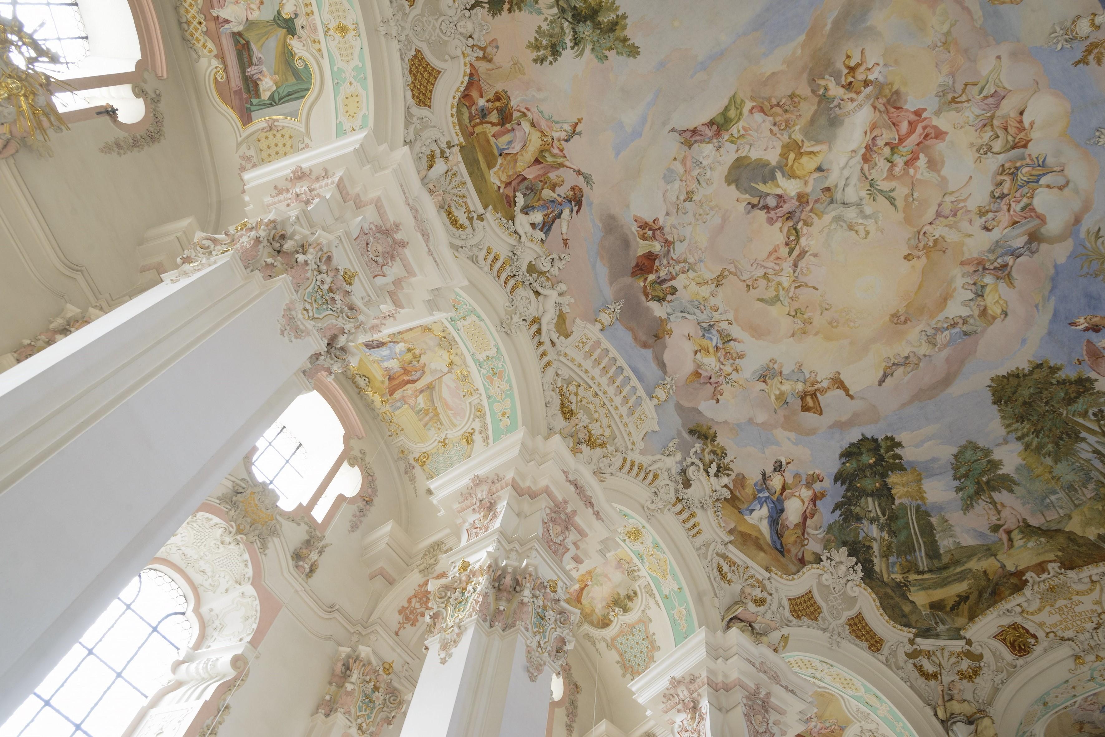 Deckenfresko Wallfahrtskirche Steinhausen ©Oberschwaben Tourismus GmbH, Frank Müller