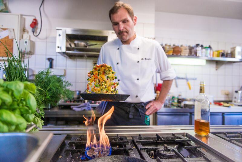 Knackiges Gemüse wird im Gasthaus Wallgut frisch zubereitet
