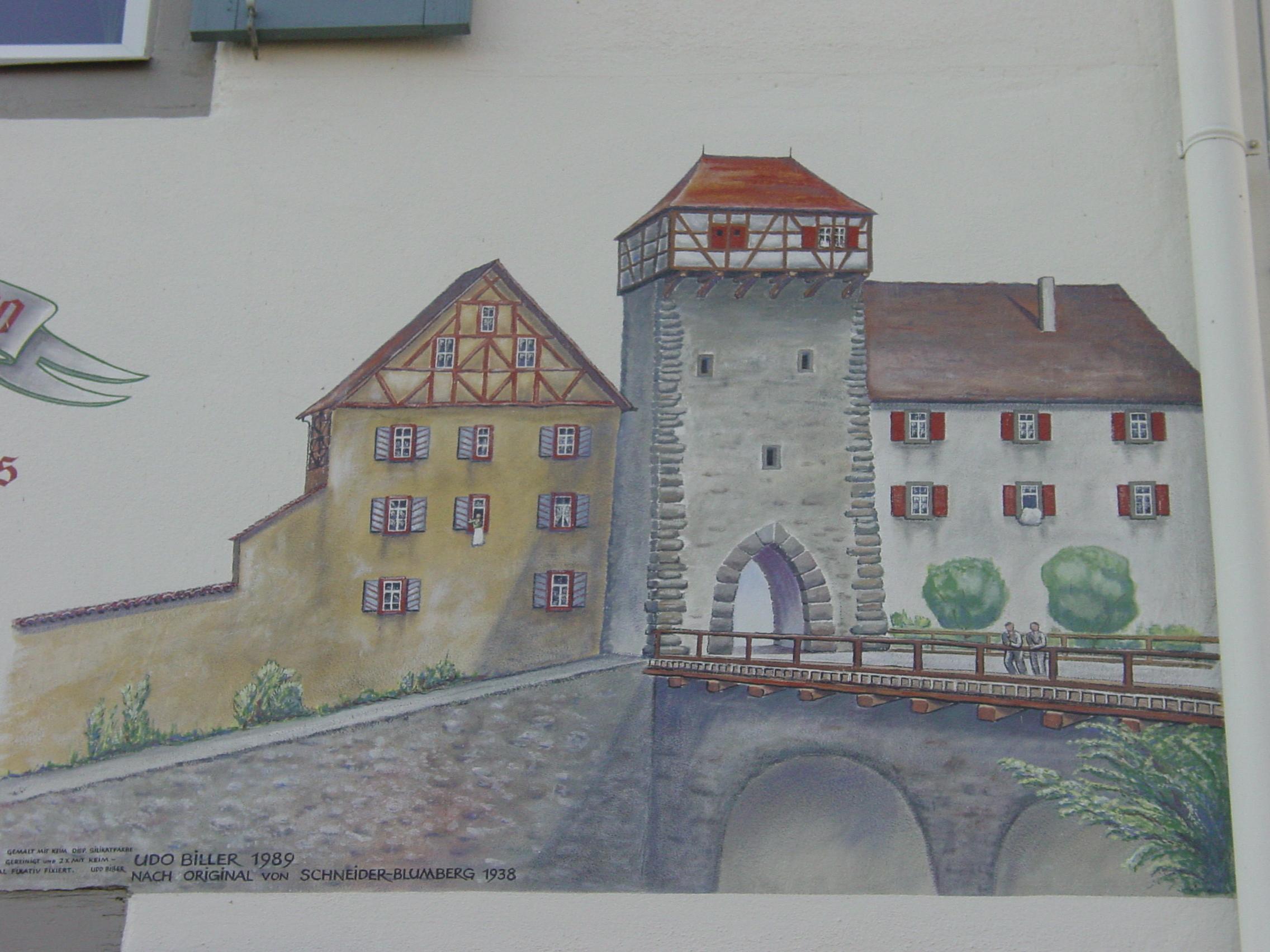 Zeichnung des Radolfzeller Obertors