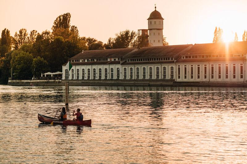 Wasserturm Stromeyersdorf und Bleiche am Seerhein