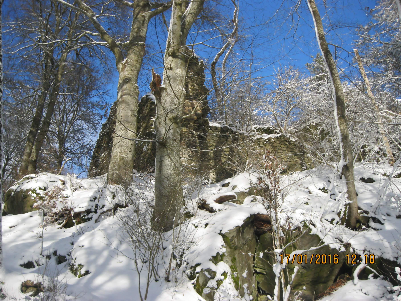 Ruine im Winter