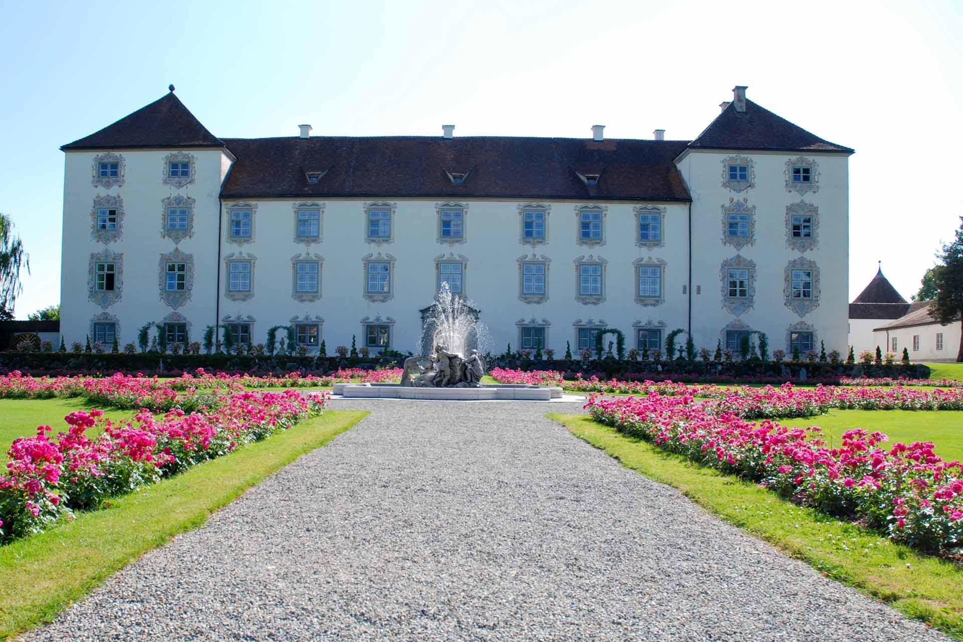 Außenansicht des Schlosses Zeil in Leutkirch