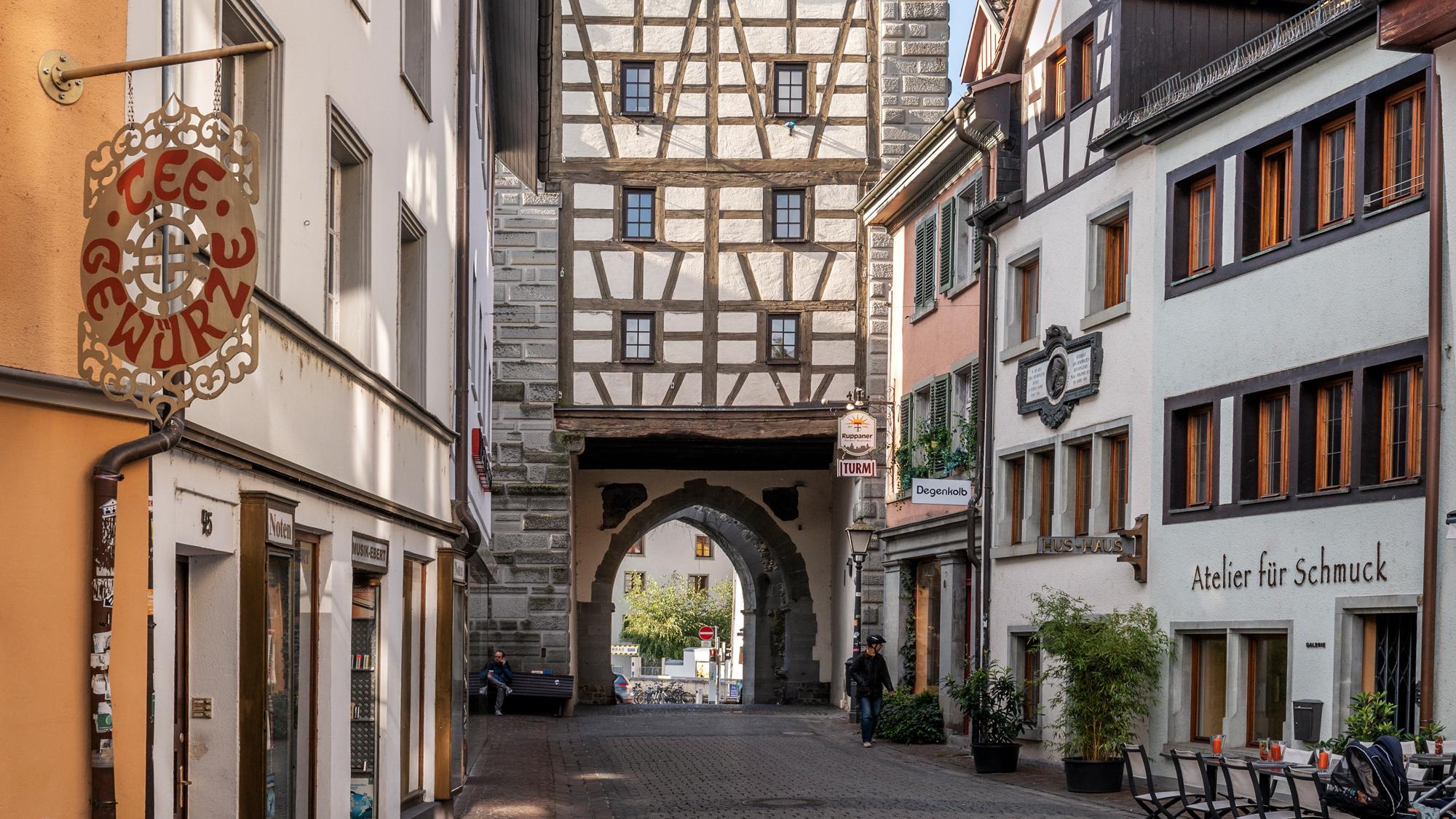 Historische Straße: Die Hussenstraße mit dem Hus-Haus