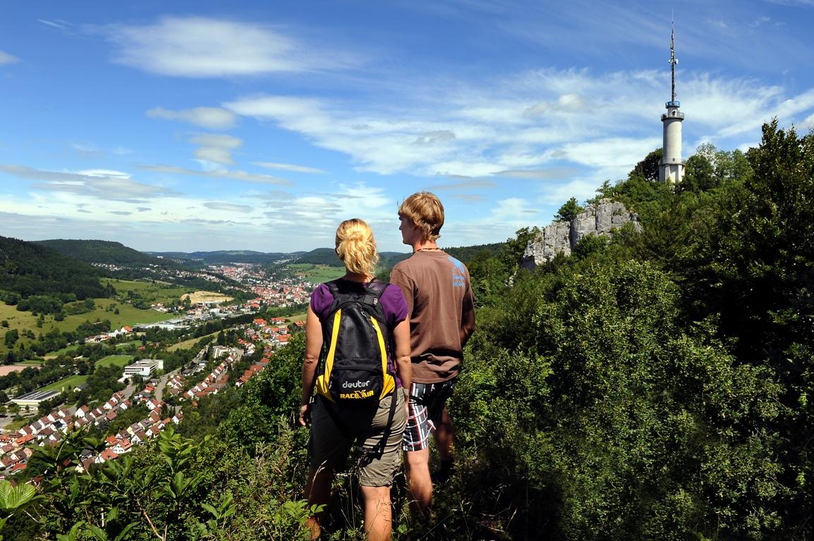 Blick zum Schlossfelsenturm