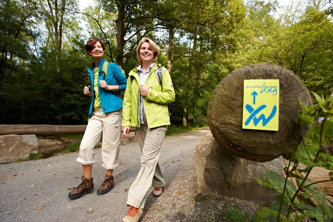 Wanderer auf dem Weserbergland-Weg
