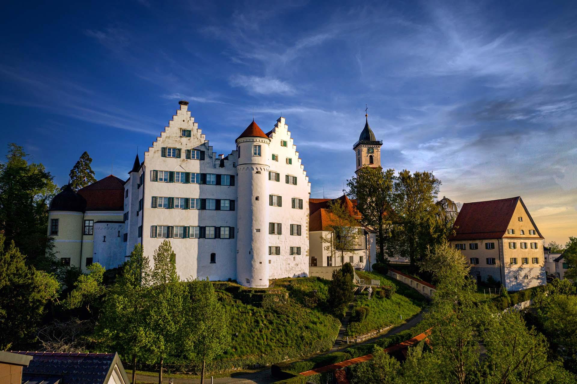 Blick auf das Schloss Aulendorf