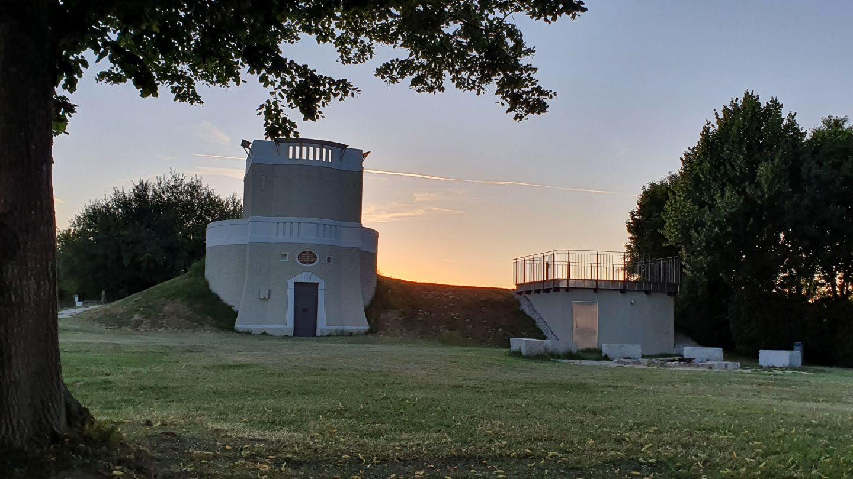 Wasserturm Horn in der Abendsonne