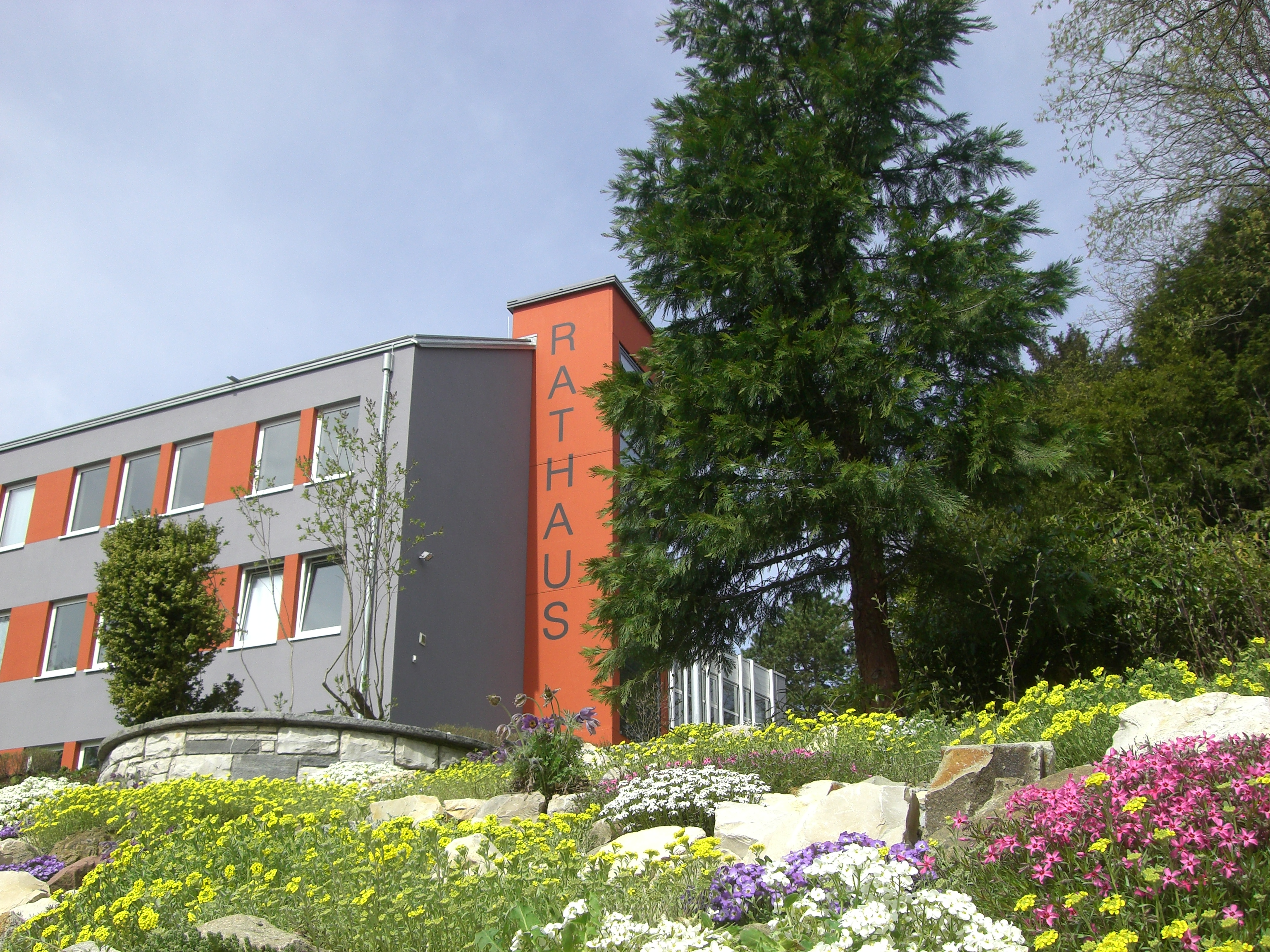 Rathaus Bepflanzung Frühjahr 2011