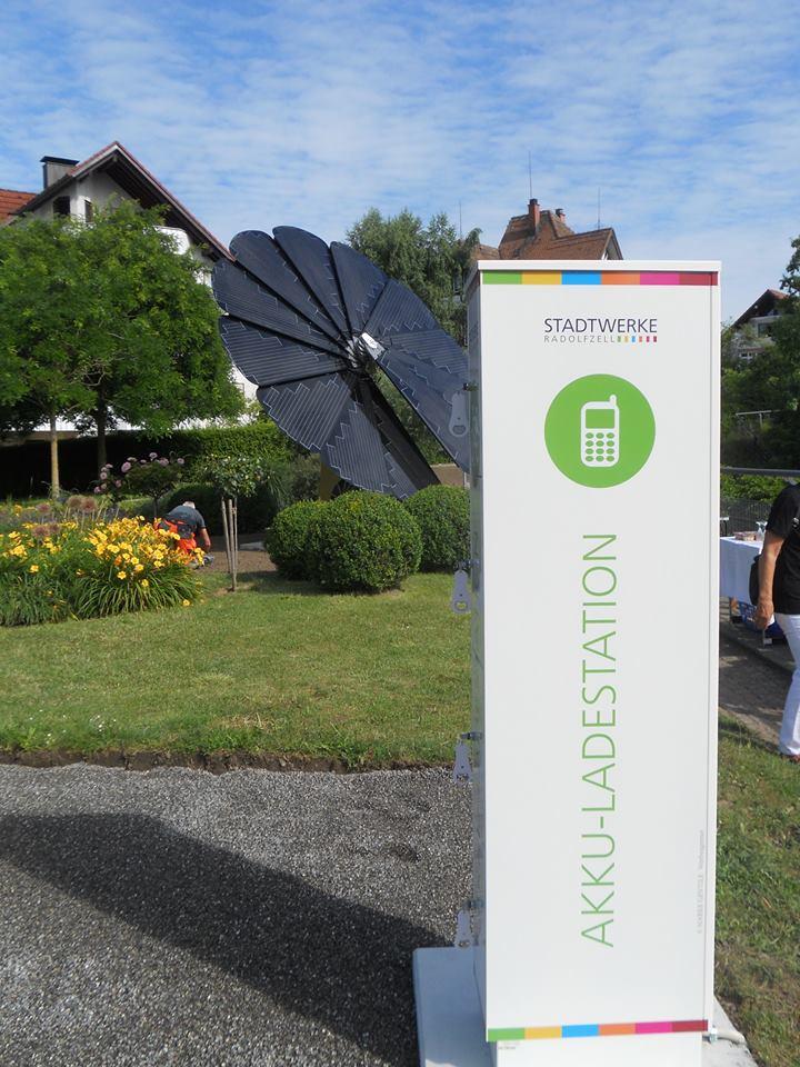 Solarblume Radolfzell mit Akku-Ladestation