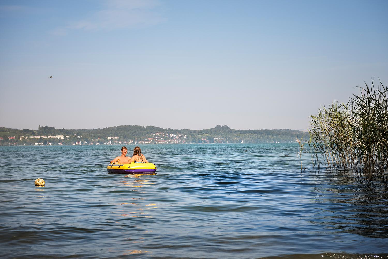 Gummiboot-Tour auf dem Bodensee