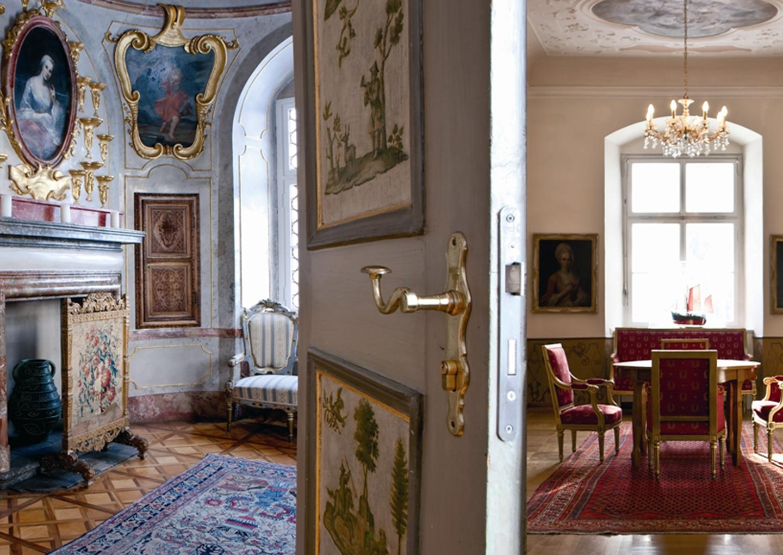 Barocke Räumlichkeiten im Neuen Schloss