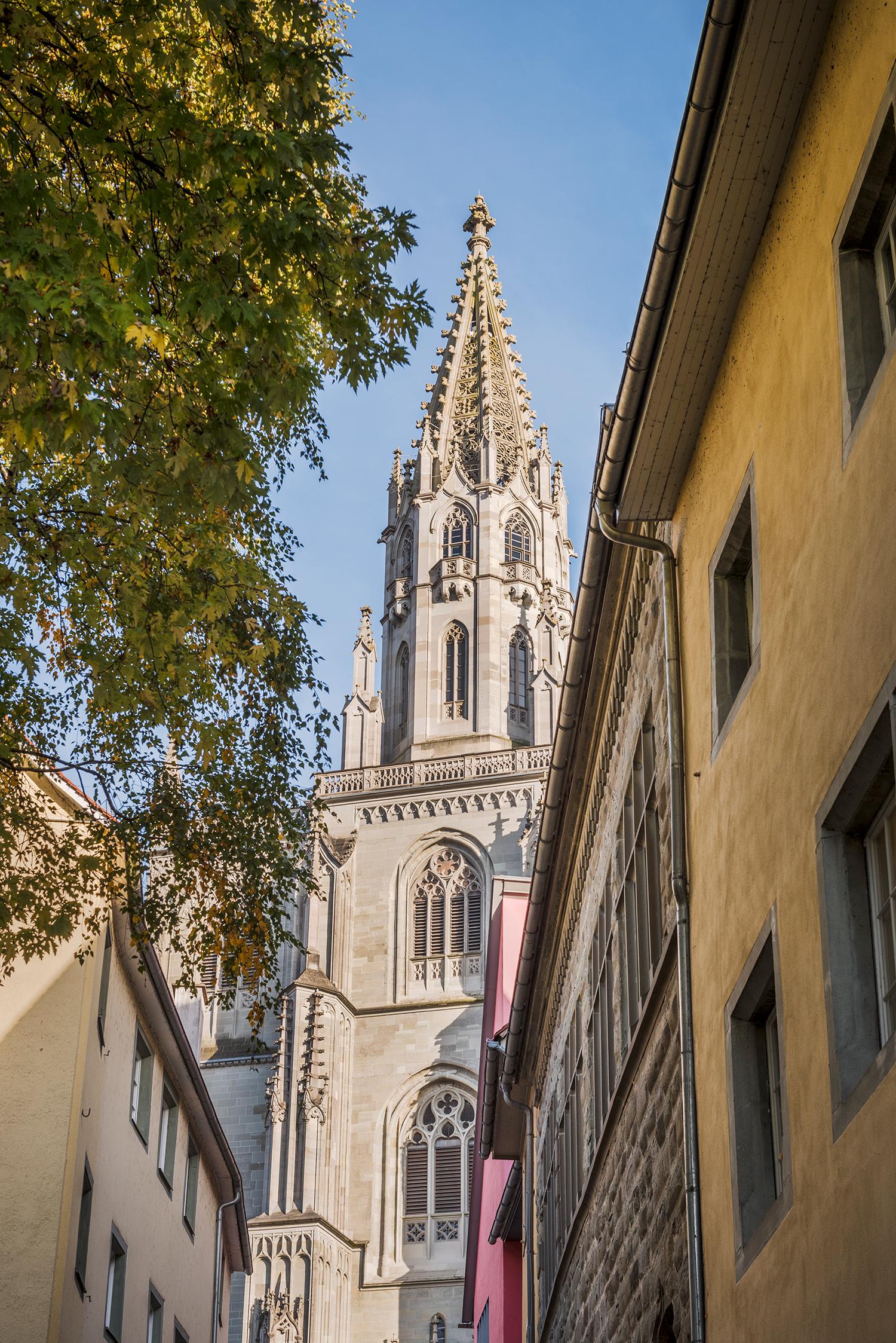 Der auffällige Turm des Konstanzer Münsters