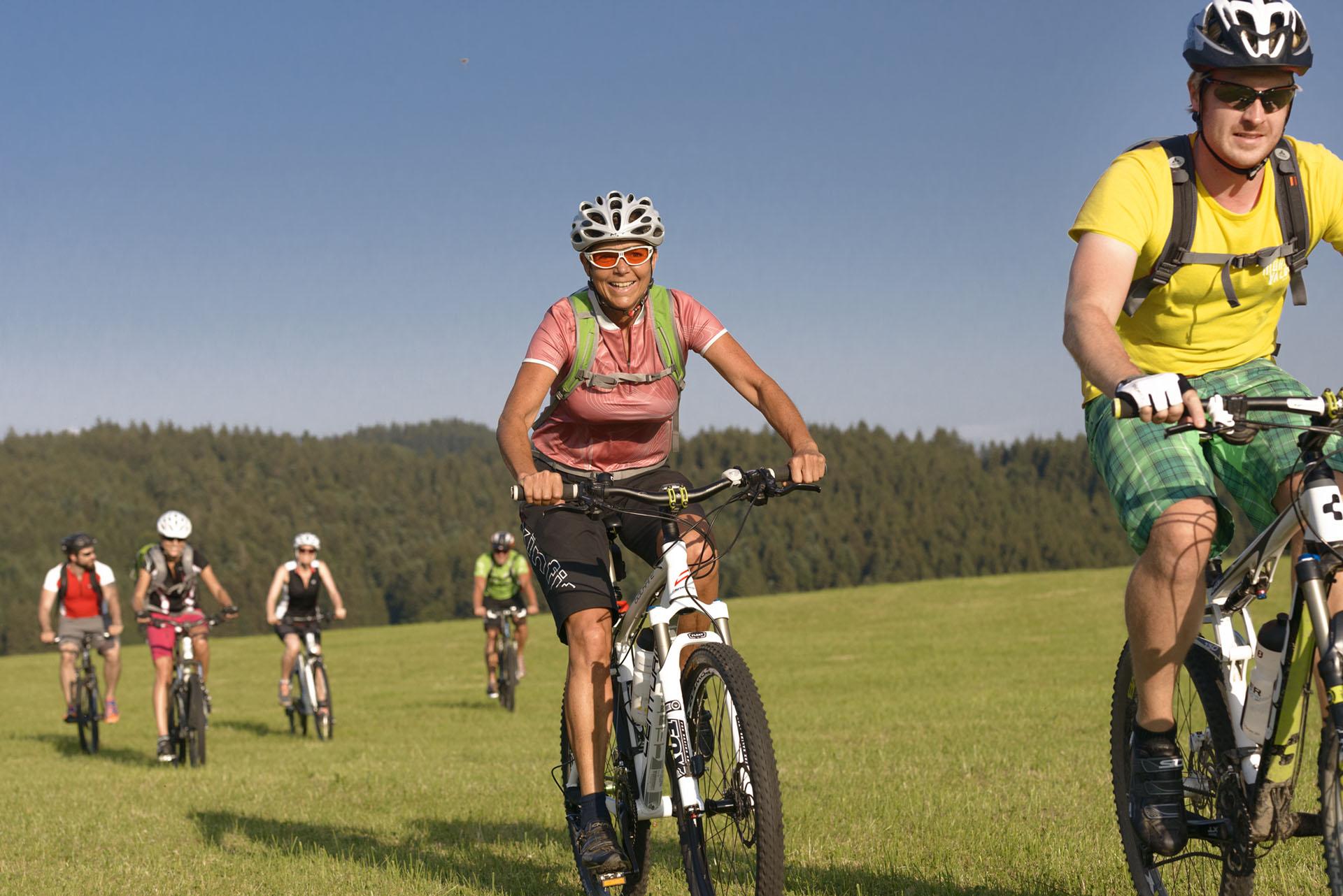 Radausflug einer Gruppe in der Ferienregion Oberschwaben-Allgäu